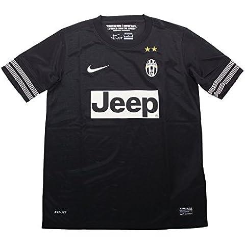 2012–13–Camiseta de fútbol (Juventus Nike Away (Kids) Negro negro Talla:extra-small