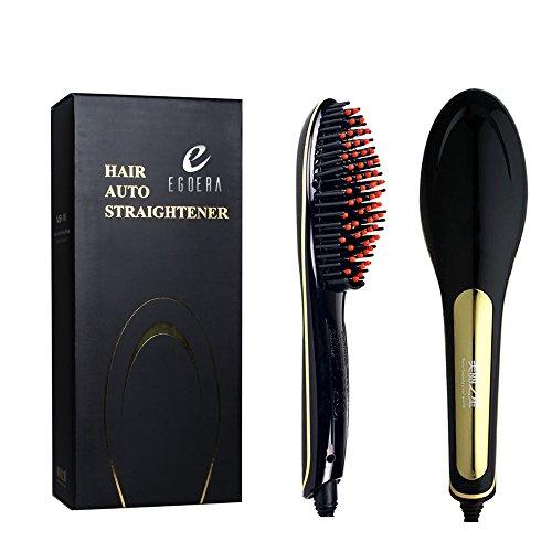 E-TOP 2015 Vente Chaude Peigne à Lisseur pour les Cheveux Droits/Fers à Défriser Ions Négatifs Professionnel Automatique avec Ecran LCD Electrique, noir