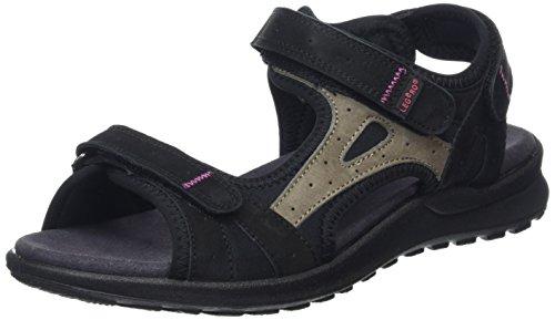 Legero Siris Damen Offene Sandalen mit Keilabsatz Schwarz (SCHWARZ 00)