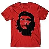 LaMAGLIERIA T-Shirt Uomo El Chè - Camiseta Che Guevara 100% Cotone, Rosso