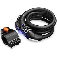 Zhuhaimei,PYM3789 Cable de Bloqueo antirrobo de contraseña Multiusos de 5 pies(Color:Negro)
