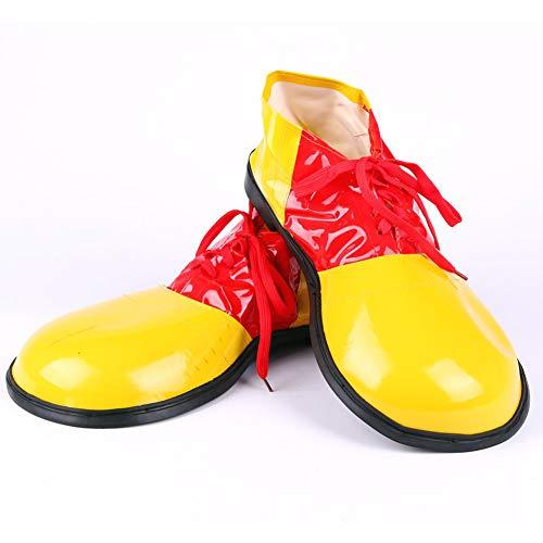 (Fsha-Book Halloween Cosplay Clown Schuhe - Unisex Erwachsene Jumbo Große Clown Schuhe Halloween Kostüme Zubehör,Yellow,UK1/UK7/EU34/EU40)