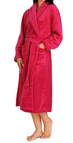 Mesdames Peignoir/Wrap en Luxueux Doux en polaire avec poches xl par SLENDERELLA New aut '15 Framboise