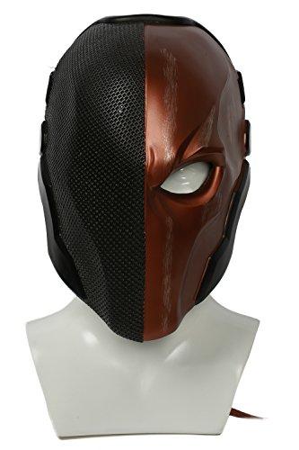m Spiel Arkham Cosplay Kostüm Harz Maske für Herren Kleidung Merchandise Zubehör (Black Orange) (Deathstroke Kostüm)