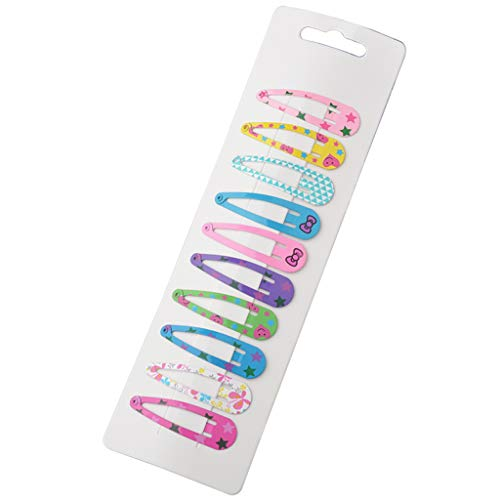 (Jiamins 10 Stücke Haarspange Mädchen Kinder - Schöne Karikatur Candy Farbe Mini Snap Metall Haarnadeln Haarschmuck (1))