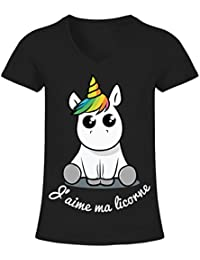 licorne t shirts et tops femme v tements. Black Bedroom Furniture Sets. Home Design Ideas