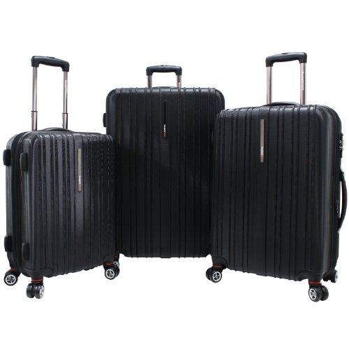 travelers-choice-tasmania-100-pure-polycarbonate-3-piece-expandable-spinner-luggage-black