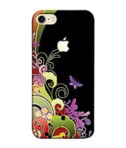 PrintVisa Designer Back Case Cover for Apple iPhone 7 (Logo View Window Case) (Decoration Card Vector Concept Illustration Wallpaper Modern)