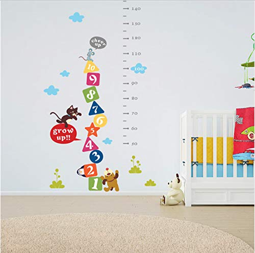 Cicixi Cat Mouse Dog Cheer Up Cartoon Height Measure Wall Sticker For Kids Rooms Growth Chart Wall Decal Art Poster Mural Children Gift 153 75cm