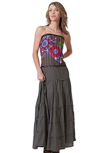 Coton Du Monde - Robe Longue OCELIA Gris Gris