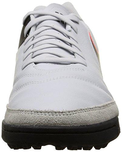 Nike Herren Tiempo Genio Il Leather Fußballschuhe Weiß (Pure Platinum/Black-Hypr Orng 001)