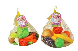 Grandi Giochi GG20001 - Frutas o verduras de plástico (surtido)