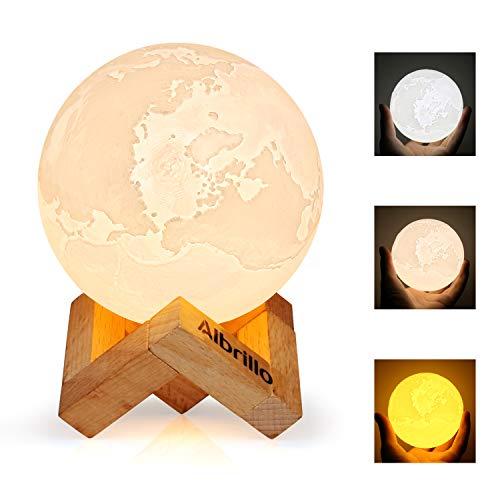 Albrillo 3D Lampe de Terre, LED ...