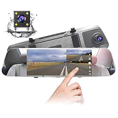 Dash Cam/Dual Lens 7-Zoll-Touchscreen/Full HD -1080P / 170 ° Weitwinkel Vorder- / Rückfahrkamera-Videorecorder/G-Sensor/Schleifenaufnahme/Parküberwachung/Bewegungserkennung Hdmi-video-switching