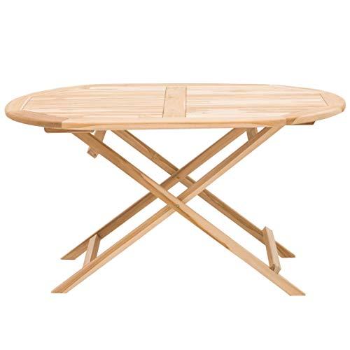 OUTLIV. Gartentisch Seattle Klapptisch 140x90cm Oval Teak Outdoor Tisch