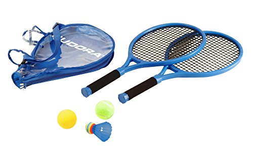 HUDORA Kinder-Tennisset Tennis Schläger Ball Tasche Softtennis Ballspiel Kindertennis