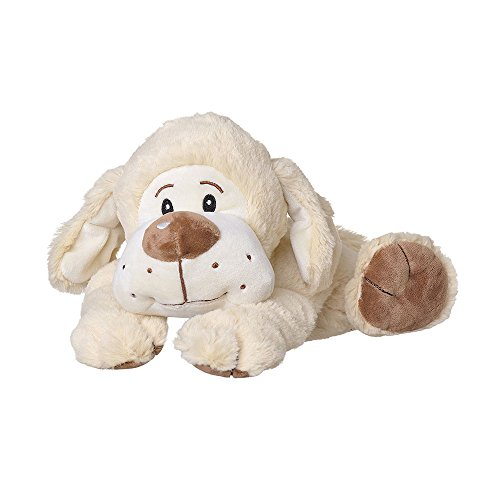 welliebellies Wärmekuscheltier für Kinder - Wärmekissen gegen Schmerzen und zum Wohlfühlen - Wohltuender Kräuterduft durch Rosmarin und Lavendel, Eukalyptus & Pfefferminz - groß (Hund)