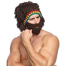 Tacobear Hiver Bonnet Barbe Homme Drole Amusant Beanie Hiver Chaud Beanie  Knit Chapeau Tricoté Casquette Drôle 02153ab7e05