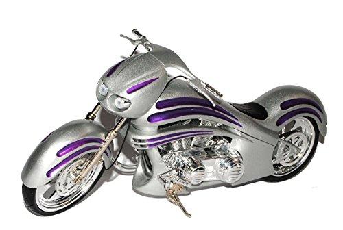 Unbekannt HarIey Davdson Arlen Ness Bike Silber Violett 1/6 Moto TZ Modell Motorrad (1 6 Motorrad)