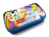 Seven - Astuccio Scuola Disney Princess My Dreams My Way - Quick Case - Completo di 44 Pezzi