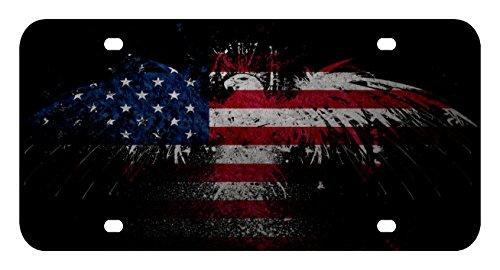 Sign Factory L169American Flagge Adler Lizenz Plate Front Custom Neuheit Tag Eitelkeit Rahmen Halter Wrap Packungen (Usaf-flagge)