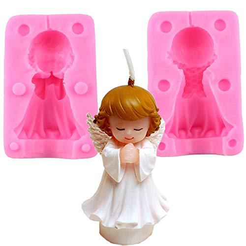 Inception Pro Infinite Moule en Silicone - Divisé en Deux Parties - Utilisation Artisanale - Enfant Ange priant - Faveurs - Baptême - Enfants - Enfants - Bébés - Décorations