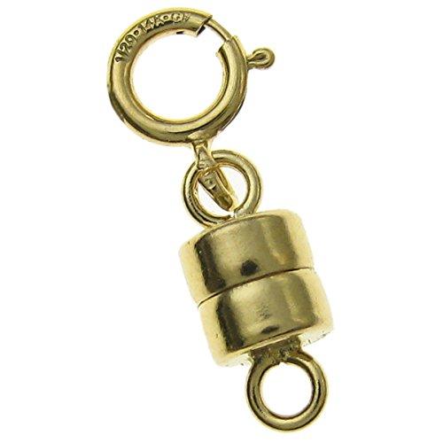 14K Gold gefüllt 4mm Magnetverschluss Converter für Halsketten/Armbänder, mit 5mm Federringverschluss