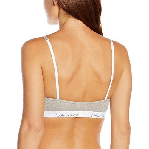 Calvin Klein Underwear - Soutien-Gorge de Sport - Brassière - Uni - Femme Gris (GREY HEATHER 020)
