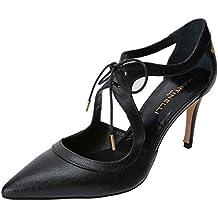 Selena 1365-3486N, Zapatos de Tacón con Punta Cerrada para Mujer, Negro (Black), 39 EU Martinelli