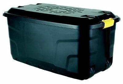 Ward 145 Litre Storage Trunk on Wheels - Black