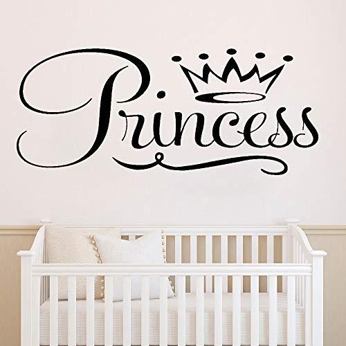 xinyouzhihi Fototapete für Kinderzimmer Vinyl Art Princess Crown Fototapete für Schlafzimmer Mode Wandaufkleber 57x24cm