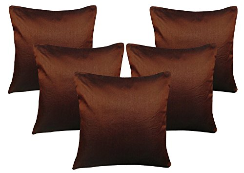 Brown Cushion Covers - Set of 5(12x12 Inch)