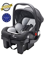 R for Rabbit Picaboo Grand 4 in 1 Multi Purpose Baby Carry Cot Cum Car Seat with 3 Level Recline Position and Detachable Base for Infant Babies of 0 to 15 Months & Weight Capacity upto 13 Kgs(Black Grey)