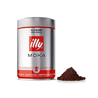 illy Moka Ground Coffee Medium Roast, 250 g