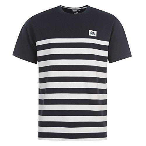 "LONSDALE London Damen T-shirt ""YD Crew - Bleu marine/blanc"