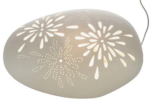 HGD Komet Porzellan-Lampe, Keramik, Weiß