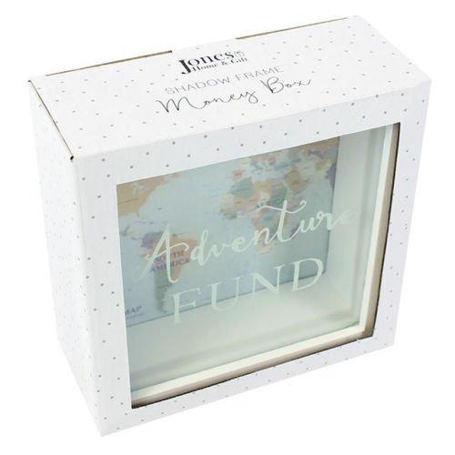 Caja decorativa de cristal para dinero - Hucha - Ahorro para viaje