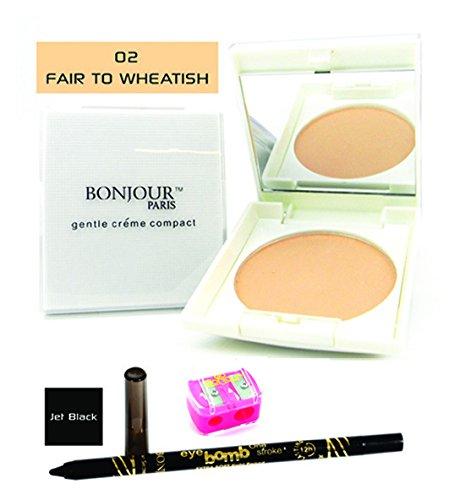 BONJOUR PARIS Compact Powder + Non Transfer Eye Pencil