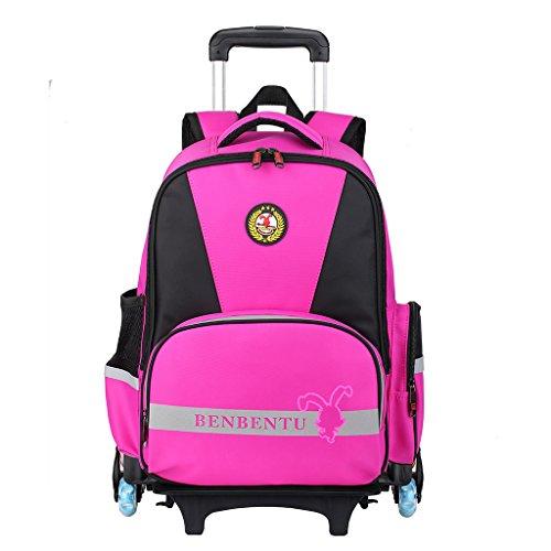 Kinder Weitermachen, Rucksack (Kinderrollrucksack - Trolley weitermachen Gepäck Kinder Schultasche für Jungen und Mädchen (6 Räder))
