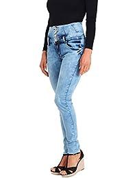 KRISP® Femmes Jeans Skinny Délavé Déchiré Denim Slim Casual