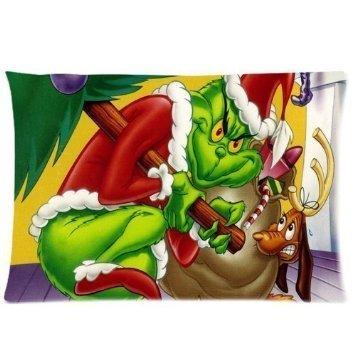 Weihnachten Dekorationen Grinch (Trendsetter Custom soft-home Dekoration Cartoons wie der Grinch Weihnachten gestohlen hat Kissen Fall 20x 30(Zwei Seiten))