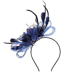 Tocado de malla de velo para boda, diseño retro, elegante, con plumas y lunares