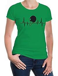 buXsbaum® Girlie T-Shirt Frequenz-Table Tennis