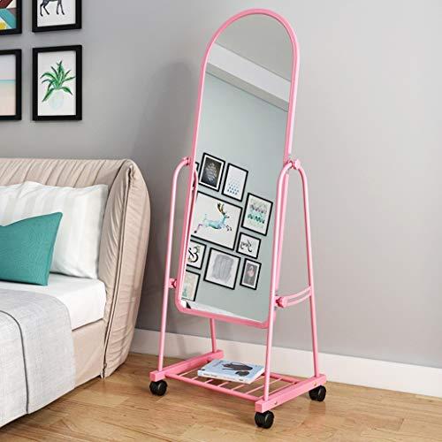 Mir*dfgh Einbauspiegel Ganzkörperspiegel Bodenspiegel Schminkspiegel Wandspiegel  0610 (Color : Pink, Size : 31cm*150cm)