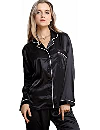 Amazon.co.uk: Black - Pyjama Sets / Nightwear: Clothing