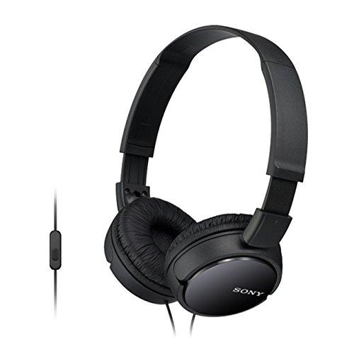 Sony MDR-ZX110AP con Microfono, Frequenza 12 Hz-22 kHz, 1000 mW, Nero