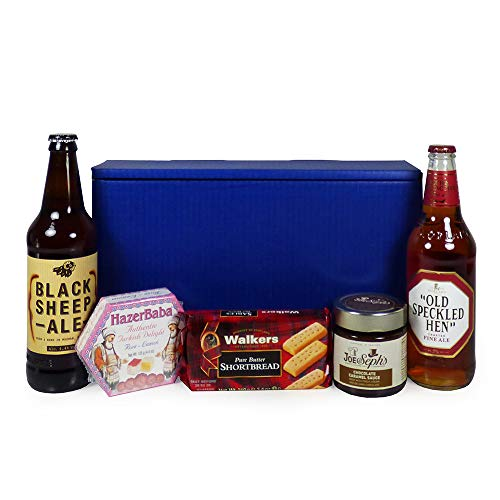 Gentlemans Ale Dunkin Delights Gift Hamper in a Blue Gift Box, Gift ideas for - Valentines, Christmas presents, Birthday, Anniversary, Dad, him, Grandad, Husband