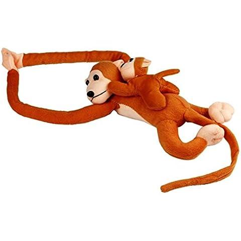 FAMILIZO Mono lindo del chillido del juguete de la felpa de la muñeca de la muñeca del regalo La Gibbons (marrón)