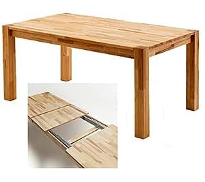 Table de salle à manger aRGO «» en c?ur de hêtre massif huilé à 160 x 250 cm