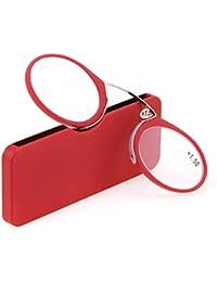 dbb69a3957 YUNCAT Gafas de lectura mixtas sin patillas Ovaladas transparentes hombre y  mujer flexibles e irrompibles para